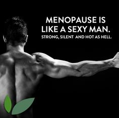 #Menopause is like a sexy man. Strong, silent and hot as hell. #lol #original