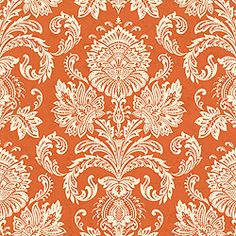 Sabeen #wallpaper in #terracotta from the Cypress collection. #Thibaut