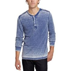 0164ac4937 Men s Burnout Thermal Henley Shirt