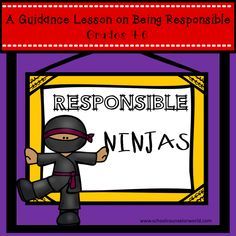 Guidance lesson on Learning to Be Responsible for Grades 4-6. NEVER create another guidance lesson again with our aligned #ASCA #K-6 #guidance #lessons! We\'ve got more GUIDANCE LESSON Plans, all which are aligned for grades K-6! Each #lessonplan has a Word doc for each grade level and a #PDF that includes all activities and printables. #Responsible #Actions | Elementary Guidance Lessons | School Counselor #Decision-Making #Interactions #elementary