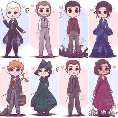 ✨💕 the Crimes of Grindelwald characters I've drawn so far! 💕✨ who was your favourite character in CoG ? 😊 (Oh and this weeks giveaway is now closed and the winner has been messaged) 💕 Harry James Potter, Harry Potter Anime, Harry Potter World, Arte Do Harry Potter, Harry Potter Friends, Cute Harry Potter, Harry Potter Universal, Harry Potter Fandom, Harry Potter Characters