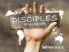 """""""Therefore go and make disciples of all nations, baptizing them in the name of the Father and of the Son and of the Holy Spirit"""" (Matthew 28:19)"""