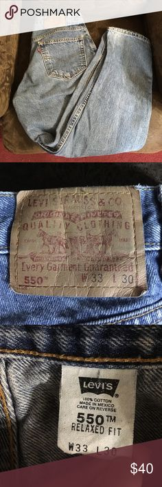 Levi jeans Relaxed fit men's jeans great shape only worn a few times my house is not pet or smoke free Levi's Jeans Relaxed