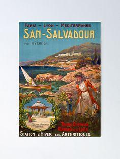 "San Salvadour Vintage Travel Poster ""Once a year, go someplace you've never been before."" – Dalai Lama france,frankriech,francie,annecy,mont,blanc,alpes,alps,alpen,telepherique,route,paris,lyon,mediterranee,railway,raildorad,eisenbahn,,travel poster,travel,vacances,poster,travelposter,holiday,vintage,clasic,retro,coloured,wanderlust,cruise,railway,railroad,1920,1930,1940,1950, Retro Color, Dalai Lama, Vintage Travel Posters, Alps, San, France, Movie Posters, Photos, Mont Blanc"