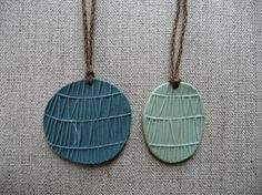 lovely, simple porcelain necklaces