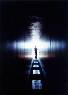 The light of the endless tunnel? Go-ou Shrine, Naoshima, Japan