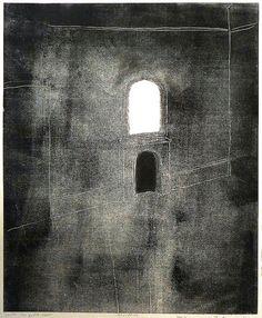 Tadeusz Deręgowski ~ Ghosts- Zerkalo -Mirror, 2011 (monotype)