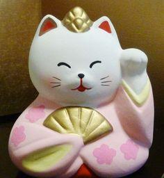 【 ねこのひな祭りセット 】 かわいい猫の雛人形です 【陶器製_手描き】 送¥0:Amazon.co.jp:おもちゃ