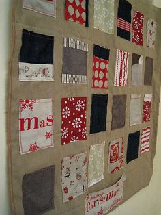 advent calender - rustic style