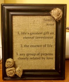 Crafting Misfit: Burlap family sign and tuturial