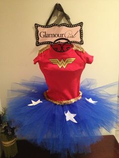 Wonder Woman tutu outfit by Babyboutiquebycp on Etsy