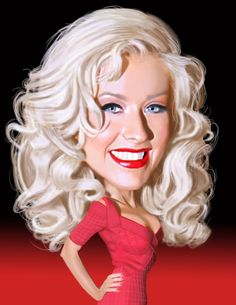 Celebrities caricature - Christina Aguilera by H. Edward Brooks