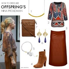 How to dress like Offspring's Nina Proudman Series 6 Cute Fashion, Retro Fashion, Boho Fashion, Winter Fashion, Spring Fashion, Bohemian Girls, Bohemian Style, Offspring Tv Show, Boho Outfits