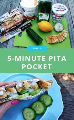 5-minute pita pocket that's easy to make for lunch.