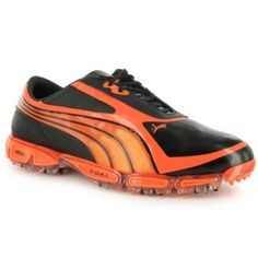 Puma AMP Cell Fusion Golf Cleats Mens Red Leather - ONLY $199.99