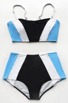 c9a9e3c42fa81 Cupshe Your Charming Way High-waisted Bikini Set Купальные Костюмы, Бикини  В Цветочек,
