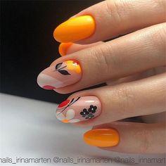 New nail art trends bring you unlimited nail design inspiration - Page 16 of 117 - Inspiration Diary Shellac Nails, Acrylic Nails, Spring Nails, Summer Nails, Cute Nails, Pretty Nails, Gel Nagel Design, Floral Nail Art, Oval Nails