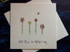 folk flowers simple mothers watercolour