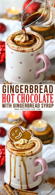 Homemade gingerbread hot chocolate is the perfect Christmas drink.