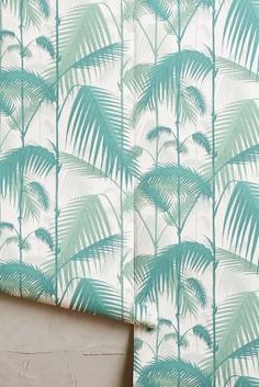 WE ♥ THIS!  ----------------------------- Original Pin Caption: Anthropologie Fanned Fronds Wallpaper