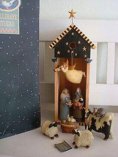 Nativity Creche, Christmas Nativity Set, Nativity Ornaments, Christmas Wood, Christmas Projects, Christmas Holidays, Christmas Decorations, Nativity Sets, Christmas Ornaments