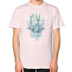 Dark Forest Skull Unisex T-Shirt (on man)