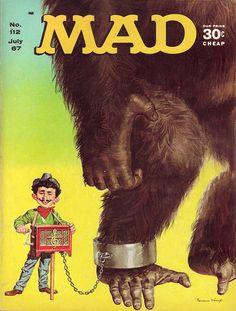 Mad Magazine On) comic books Magazine Cover Layout, Magazine Covers, American Humor, Magazine Pictures, Mad Magazine, Mad World, You Mad, Vintage Magazines, King Kong