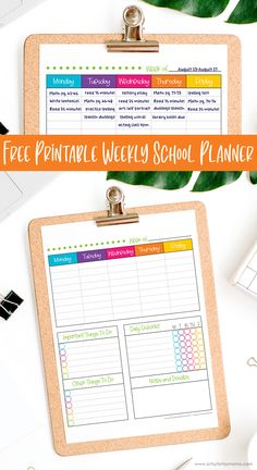 Free Printable Weekly School Planner   artsy-fartsy mama Spelling Test, Spelling Words, Crafty Projects, School Projects, Daily Checklist, History Essay, School Planner, School Parties