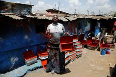 """""""Sometimes I'm denied contracts because of who I am and maybe my marital status."""" - metal painter Christine Akoth, 38, Kenya"""