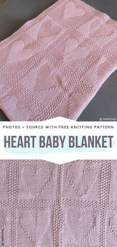 Heart Baby Blanket Free Knitting Pattern This easy to knit blanket will be a great gift for baby showers or newborns. You can knit columns of hearts or close each heart in a garter box. knitting patterns I Heart Knitted Baby Blankets Free Patterns Free Baby Blanket Patterns, Easy Baby Blanket, Heart Patterns, Baby Blanket Knitting Pattern Free, Knitted Heart Pattern, Blanket Cover, Baby Showers, Knitted Baby Blankets, Blanket Crochet