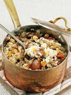 And Rice Mevlevi pilaf Recipe - Turkish Cuisine Dishes - Recipes Snack Recipes, Cooking Recipes, Rice Recipes, Greek Cooking, Iftar, Turkish Recipes, International Recipes, Food Dishes, Dishes Recipes