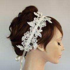 bridal Fascinator Weddings Headband Made with by MammaMiaBridal, $42.00