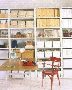 Beautiful organization! Rebecca Robertson's loft in Martha Stewart Living