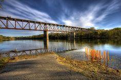 CPR Railway Bridge Galt (Cambridge) Ontario 1917 by mila0506, via Flickr Wonderful Places, Great Places, Places Ive Been, Cambridge Ontario, Walk To School, Canada Travel, Bridges, Orchid, Dawn