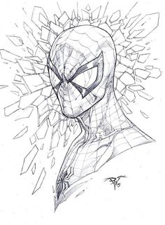Spiderman by V Ken Marion Comic Drawing, Drawing Sketches, Cool Drawings, Spiderman Drawing, Spiderman Art, Marvel Art, Marvel Heroes, Comic Books Art, Comic Art