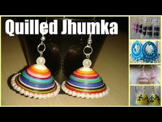 Art & Craft: How to Make Jhumka Paper Quilled Earring (jewellery) -Quilling Made Easy, Show Your Crafts and DIY Projects. Quilling Videos, 3d Quilling, Quilling Patterns, Quilling Designs, Paper Quilling Earrings, Quilling Jewelry, Paper Jewelry, Diy Jewellery, Quilling Rakhi