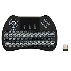 H9 Backlit 24G Mini Handheld Wirless Keyboard Fly Air Mouse Remote Control Combo with Touchpad for Smart TV Google Android Boxes Raspberry Pi PC Notebooks Xbox 360 PS3 HTPC IPTV >>> Want to know more, click on the image. Note: It's an affiliate link to Amazon