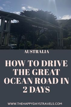 Find out where to stay, how to rent a car and the perfect itinerary for a 2 day road trip on Great Ocean Road in Australia. Melbourne, Sydney, Travel Goals, Travel Advice, Travel Guides, Amazing Destinations, Travel Destinations, Epic 2, Visit Victoria