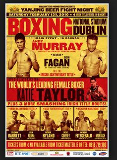 Boxing Event Poster, From Google Images