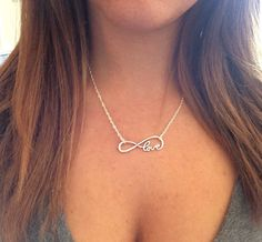Infinity Necklace Sterling Silver925 Sterling Silver Real Silver Chain Silver Necklace Infinity Love Handmade Necklace Dainty Necklace (33.00 USD) by Redbirdjewels