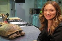 Dr isles with her tortoise