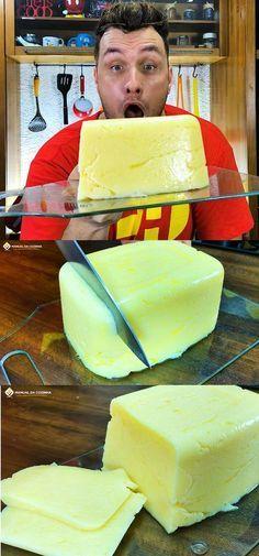 QUEIJO CASEIRO MUITO FÁCIL DE FAZER E RENDE MUITO! #queijo #queijocaseiro #muçarela #mussarela #receitas #comida #lanches