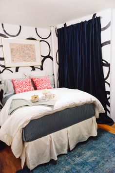 Fizz56 and Lulu and Georgia Giveaway Winner's NYC Apartment Restyle! // bedroom decor
