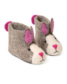 Pink Bunny Slippers - Handcrafted in Kathmandu, these slippers provide sustainable, traditional work for women in poor, rural areas.