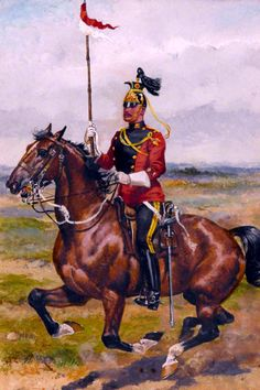 16th (The Queen's Lancers), Inspecting Officer's Orderly in parade dress