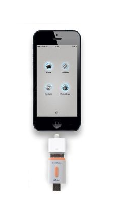 i-USBKey 32GB : USB Flash Drive for iPhone and iPad -USBKey is a USB Key with 32GB for iPhone 4S / iPhone 4 / iPhone 3GS / iPad (3rd génération) / iPad 2 / iPad / Mac / PC. Also works with iPhone5C, iPhone 5s, iPhone 5, iPad Air, iPad (with Retina Display), iPad mini (with Retina Display) by using the official adapter Apple Dock 30 PIN / Lightning.