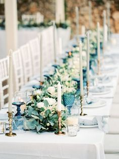 Pastel Blue & Green Destination Wedding at Corfu Luxury Villas, Planned by Rosmarin Weddings & Events Wedding Ceremony Ideas, Wedding Events, Wedding Reception, Wedding Photos, Wedding Cups, Wedding Ceremonies, Rustic Wedding, Blue Table Settings, Wedding Table Settings