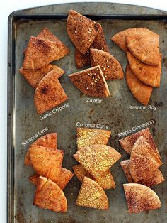 Baked Pita Chips. A healthy snack treat and great potato chip alternative. Try…