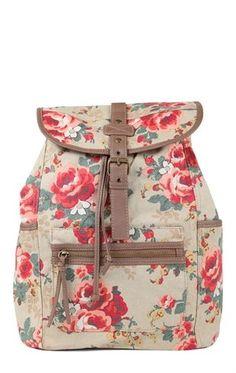 Deb Shops Floral Print Backpack $19.50