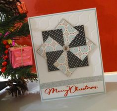 This Christmas Card features Snowhaven B&T paper, Glacier Cardstock, White Cardstock embossed with the Honeycomb Embossing Folder, Silver Shimmer Trim and sentiment cut with the Cricut from cranberry card stock.  Created by Perrin Tarlinton http://scrapstampshare.blogspot.com.au